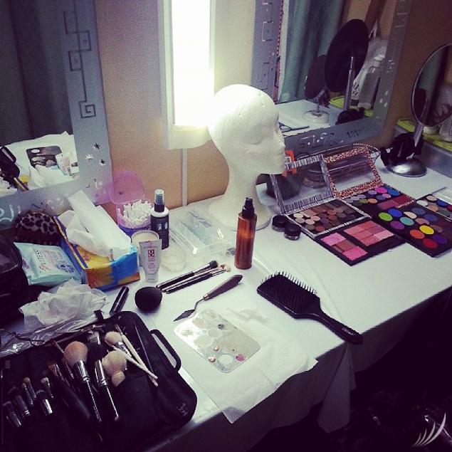 El mundo de la maquilladora
